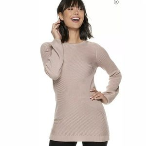 Women's Apt. 9 Ribbed Ballon Sleeve Tunic
